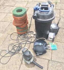 Item NOW SOLD - Full Pump & Filtration set up for Pond