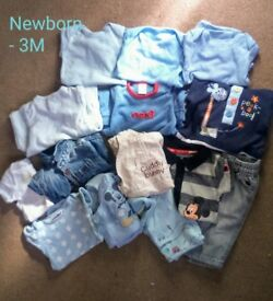 Newborn and 0-3m baby boy clothes