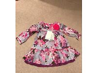 New Monsoon Girls Dress Age 6-12 months.