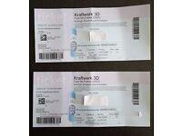 2 X Kraftwerk 3D Tour De France, Antwerp 23/5/17 SOLD OUT
