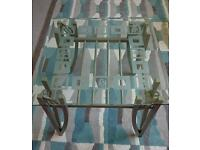 Glass side table/coffee table