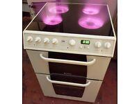 Creda C362E ELECTRIC COOKER, 60cm white, ceramic top