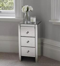 Mirrored chest of drawers - new in box