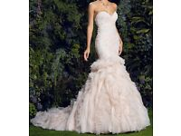 Stunning Wedding dress pearl pink brand new with tags unworn size 8/10