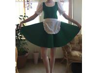 Irish Jig Dress with Red Lining - approx age 10-12 years