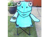 Chair - green 'frog' garden chair