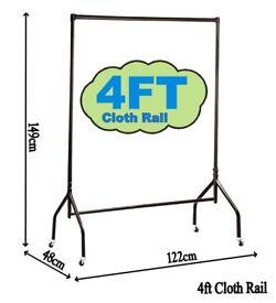 4ft Clothes Rails Heavy Duty 4 Home Storage Display,Shop Display Garments,Wardrobe