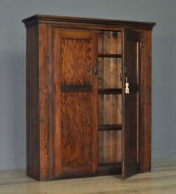 Attractive Antique Victorian Rustic Pine Pantry Country Cabinet Cupboard
