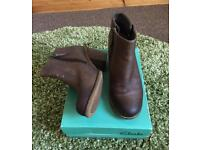Clarks leather ankle boots size 5