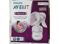 Phillips Avent Manual Breast Pump Comfort Proven-never used-with free stuffs