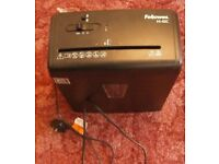 PAPER SHREDDER- fellowes 6 sheet cross cutting shredder.