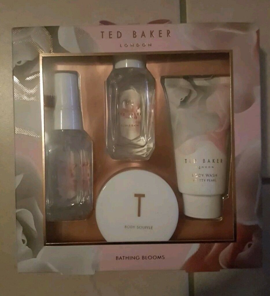 Ted Baker Bathing Blooms Gift Set New Body Wash Spray