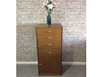 Tall boy slim chest of drawers
