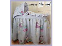 Sale LV New Handmade Baby Moses Basket Mosses Bedding Set Bassinette SALE