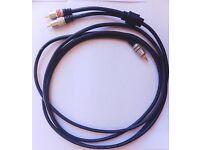 3 metre. 3.5male jack -2 male RCA. Interconnect. Model: Premier QFC.