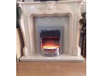 COMPLETE MARBLE FIRE PLACE FIRE NOT INLUDED