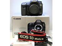 Canon 5D Mark iii Body Only UK Model Shutter count under 27K