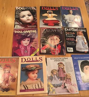Collection Doll Crafter Costuming Dolls Seeleys Dollmaker Magazine Vtg Lot 10 pc