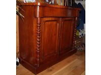Victorian Mahogany Serpentine front Chiffonier c1860-80. It comes with a silverware drawer.