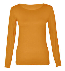 Yellow long sleeve t shirt ebay for Plain yellow long sleeve t shirt