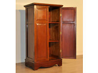 Attractive Antique Edwardian Double Door Panel Mahogany Bookcase Filing Cabinet