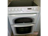 Creda 60cm Electric cooker fan oven, Grill, Ceramic Hob