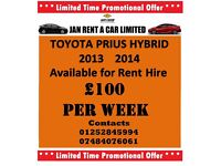 UBER Ready! Toyota Prius Hybrid Available for Private Hire Rent for / Taxi / Minicab / PHV Licensed