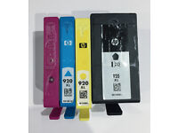 4 x Genuine HP 920 XL Partially Used Ink Cartridges