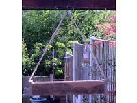 Smaller Suspended Hand-Made Barnwood STRAWBERRY / HERB / FLOWER PLANTER