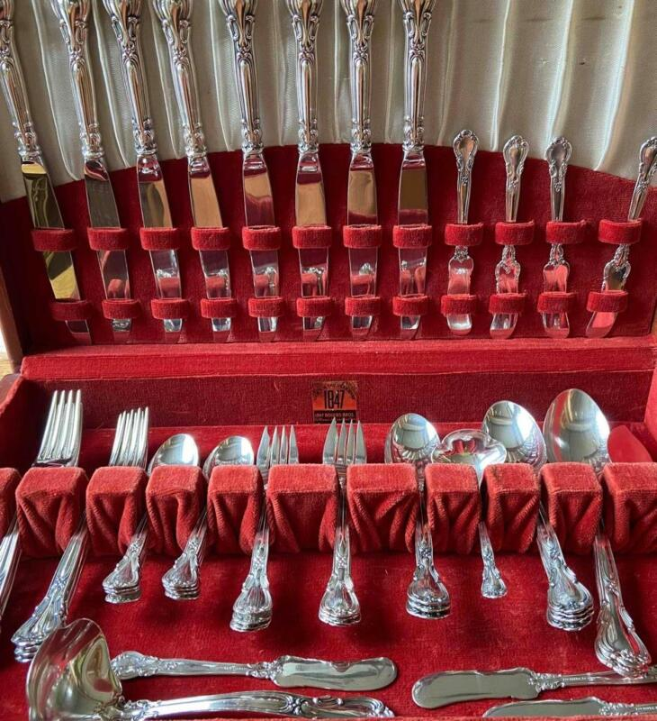Gorham Chantilly Sterling Flatware set 8 - 6 pc Place Settings - 54 pieces