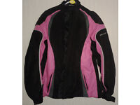 Frank Thomas Lady Rider Pink/Black Waterproof Armoured Motorcycle Jacket