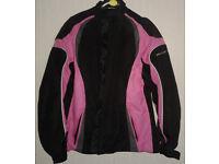 Frank Thomas Lady Rider Pink/Black Waterproof Armoured Motorcycle Jacket