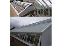 Victorian green house glasshouse and cold frame