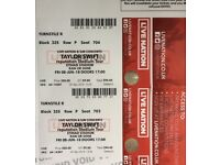 2 x Taylor Swift tickets Friday 8 June Manchester Etihad Stadium