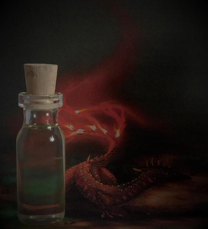 SALAMANDER ELEMENTAL Potion Ritual Oil Anointing Oil Fire~Wicca Witchcraft Pagan
