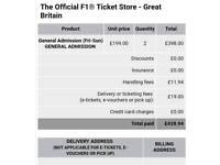 X2 British Grand Prix F1 Full Weekend Tickets at Silverstone