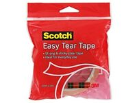 Scotch Easy Tear Tape, 25 mm x 50 m - Clear
