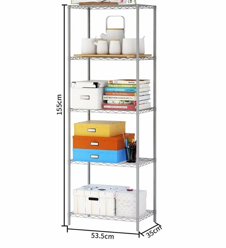 Brand New Metal Shelving Unit Storage Rack Shelf for Home Kitchen Garage Workplace