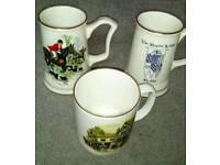 Mason memorabilia tankards and cup