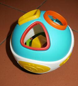 Musical shape sorter toy