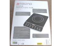 AMBIANO 2000 WATT SINGLE INDUCTION HOB, BRAND NEW BOXED