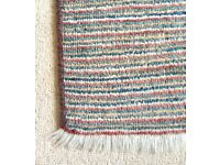 Striped wool rug 190x137cm