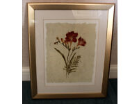 Quality Gold Frame Floral Print