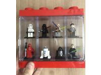 Star Wars official Lego mini figures Toys in display case