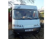 Hymer 584 Motorhome 2.8 Fiat Ducato LHD 51,000 miles in Excellent Condition, New MOT,
