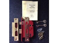 UNION 5 lever brass mortice thief resistant lock