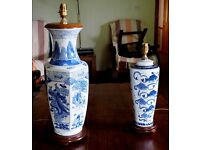 Hand Painted Chinese/Japanes style Table Lamps