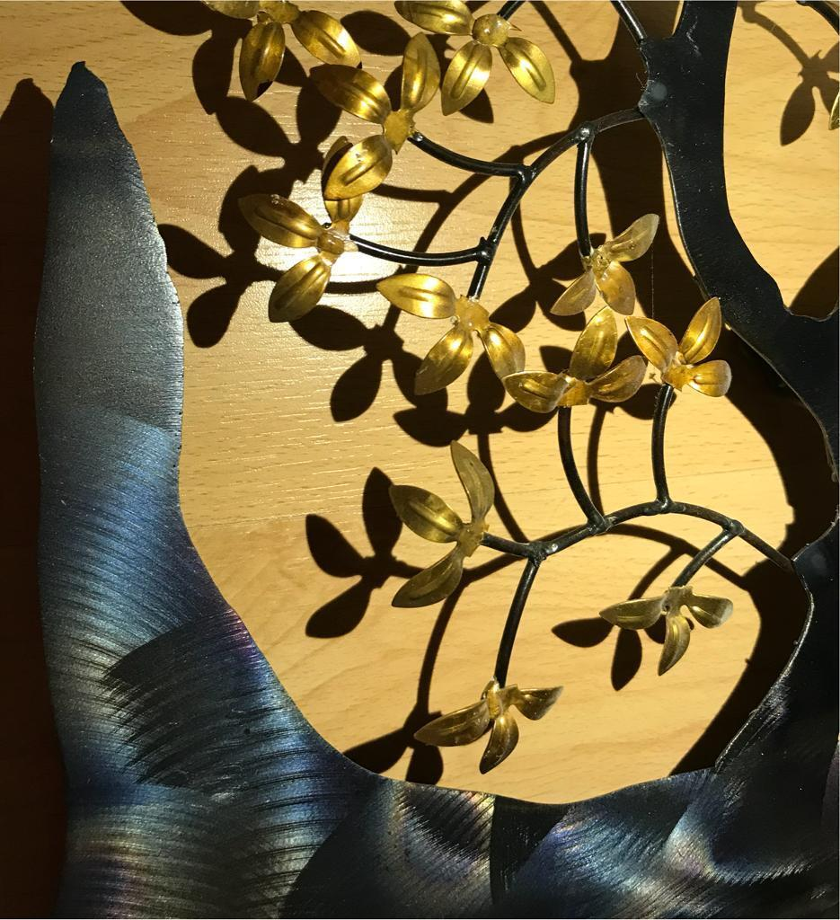 Beautiful Artisan House Metal Wall Art Frieze - Wall Art Collections ...