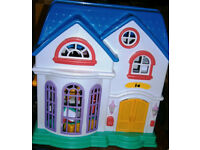 Pretty Plastic Dolls House with Furniture