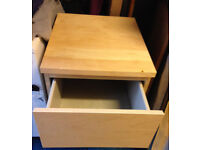 2 X bed side table with drawer IKEA malm beech